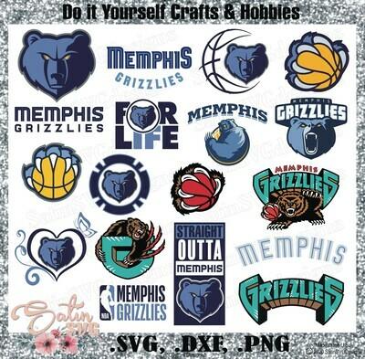 Memphis Grizzlies, Memphis Basketball NEW Custom Designs. SVG Files, Cricut, Silhouette Studio, Digital Cut Files, Infusible Ink