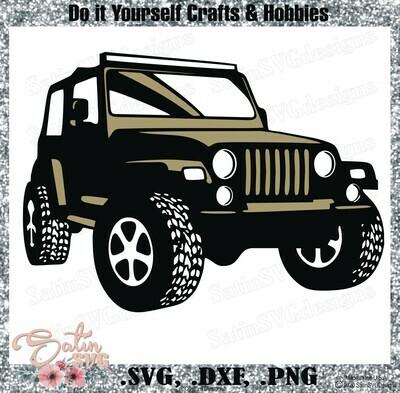 Jeep Side Off Road Design SVG Files, Cricut, Silhouette Studio, Digital Cut Files Valentines