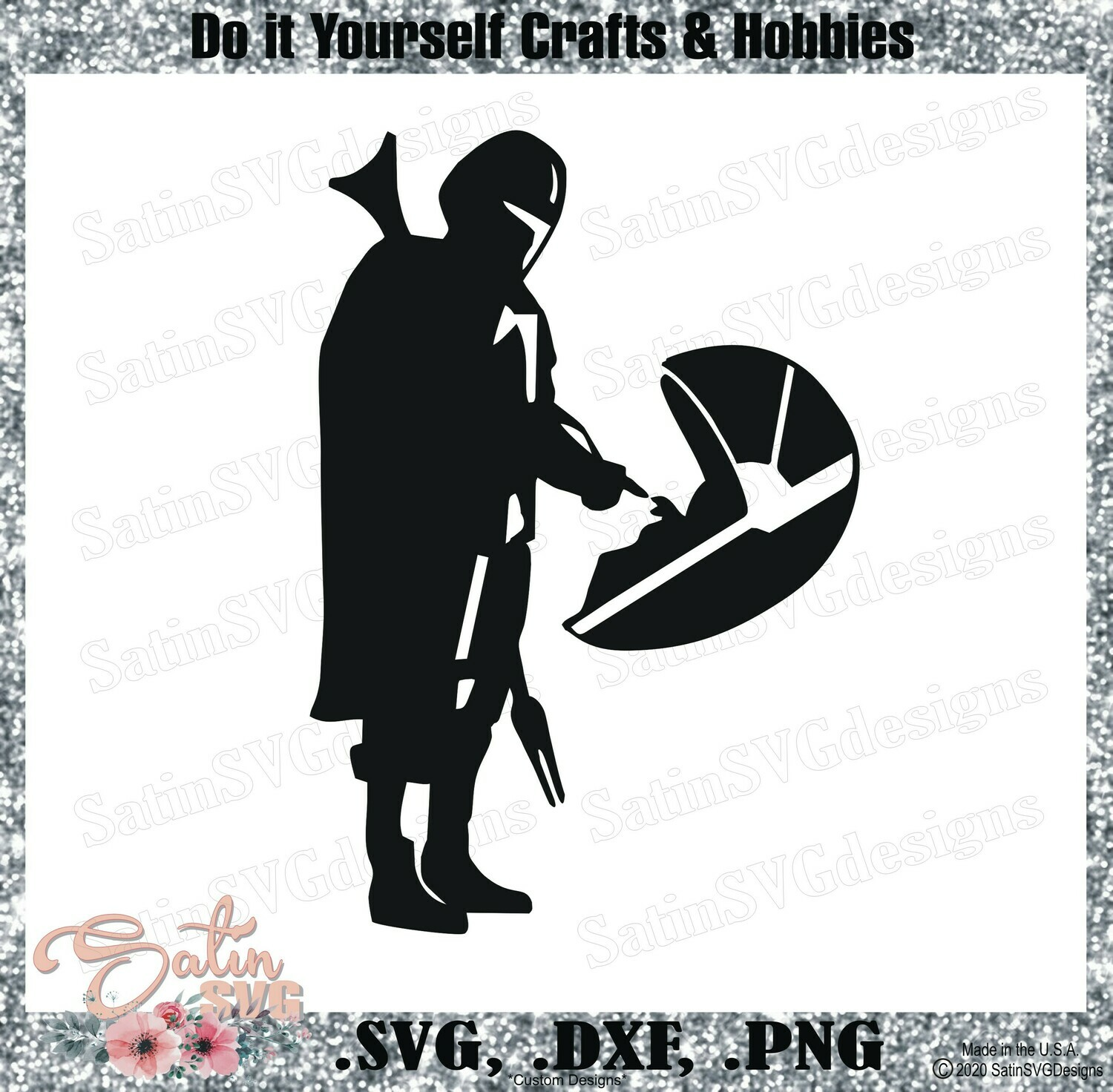 Mandalorian Baby Yoda Way Star Wars Design Svg Files Cricut Silhouette Studio Digital Cut Files Valentines
