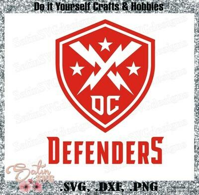 DC Defenders XFL Football NEW Custom Logo Designs. SVG Files, Cricut, Silhouette Studio, Digital Cut Files, Infusible Ink