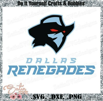 Dallas Renegades XFL Football NEW Custom Logo Designs. SVG Files, Cricut, Silhouette Studio, Digital Cut Files, Infusible Ink