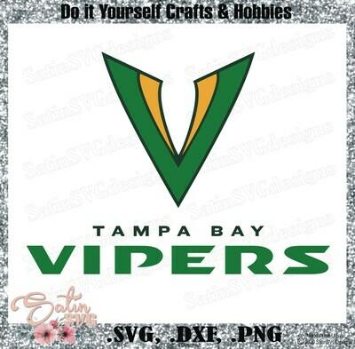 Tampa Bay Vipers XFL Football NEW Custom Logo Designs. SVG Files, Cricut, Silhouette Studio, Digital Cut Files, Infusible Ink
