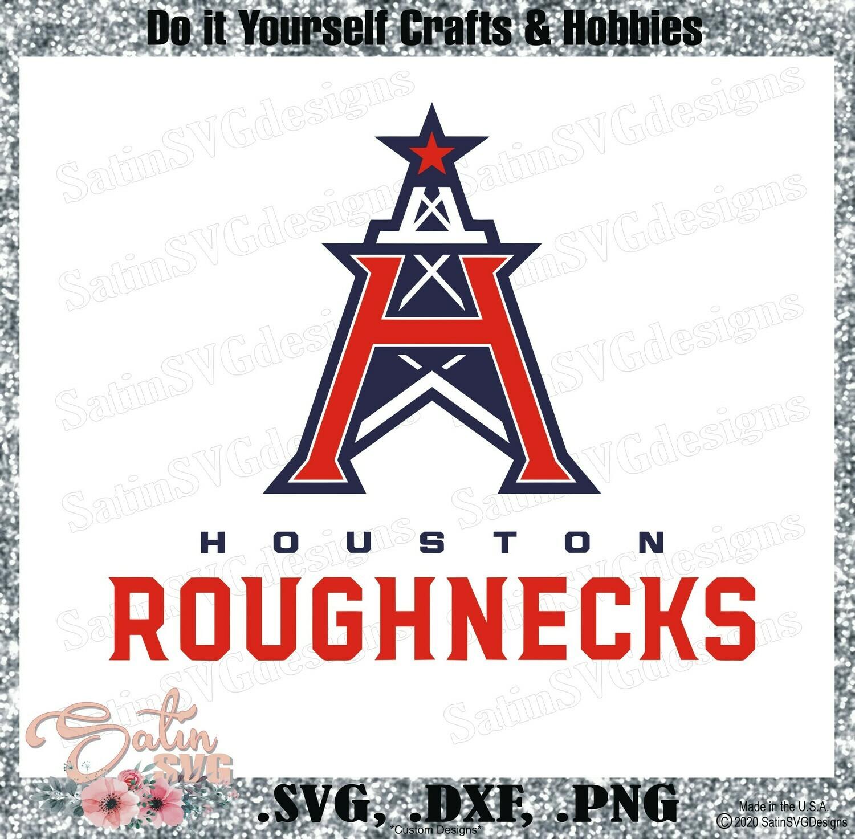 Houston Roughnecks XFL Football NEW Custom Logo Designs. SVG Files, Cricut, Silhouette Studio, Digital Cut Files, Infusible Ink
