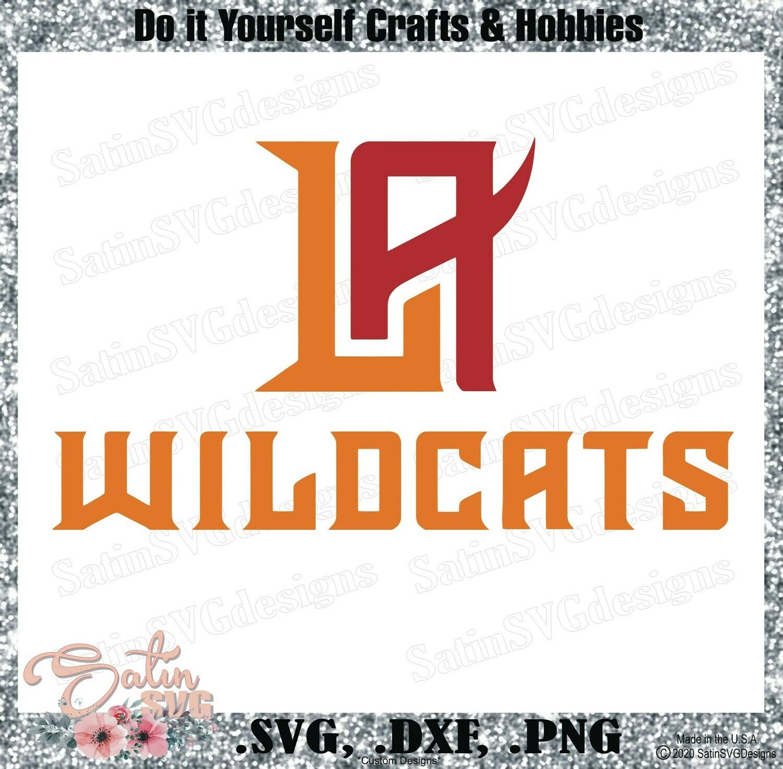 LA Wildcats XFL Football NEW Custom Logo Designs. SVG Files, Cricut, Silhouette Studio, Digital Cut Files, Infusible Ink