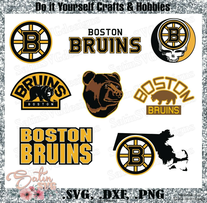 Boston Bruins NEW Custom NHL Hockey Designs. SVG Files, Cricut, Silhouette Studio, Digital Cut Files, Infusible Ink
