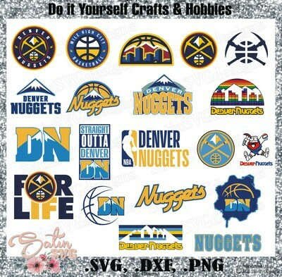 Denver Nuggets Basketball NEW Custom Designs. SVG Files, Cricut, Silhouette Studio, Digital Cut Files, Infusible Ink