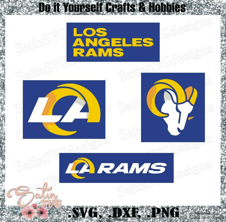 Los Angeles Rams NEW 2020 Design Set SVG Files, NFL Football - Cricut, Silhouette Studio, Digital Cut Files