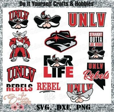 UNLV REBELS University of Nevada, Las Vegas NEW Custom Designs. SVG Files, Cricut, Silhouette Studio, Digital Cut Files, Infusible Ink