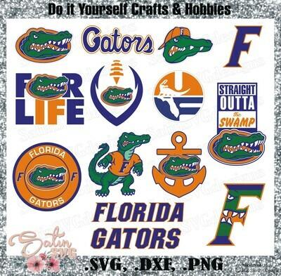 Florida Gators, University of Florida NEW Custom Designs. SVG Files, Cricut, Silhouette Studio, Digital Cut Files, Infusible Ink