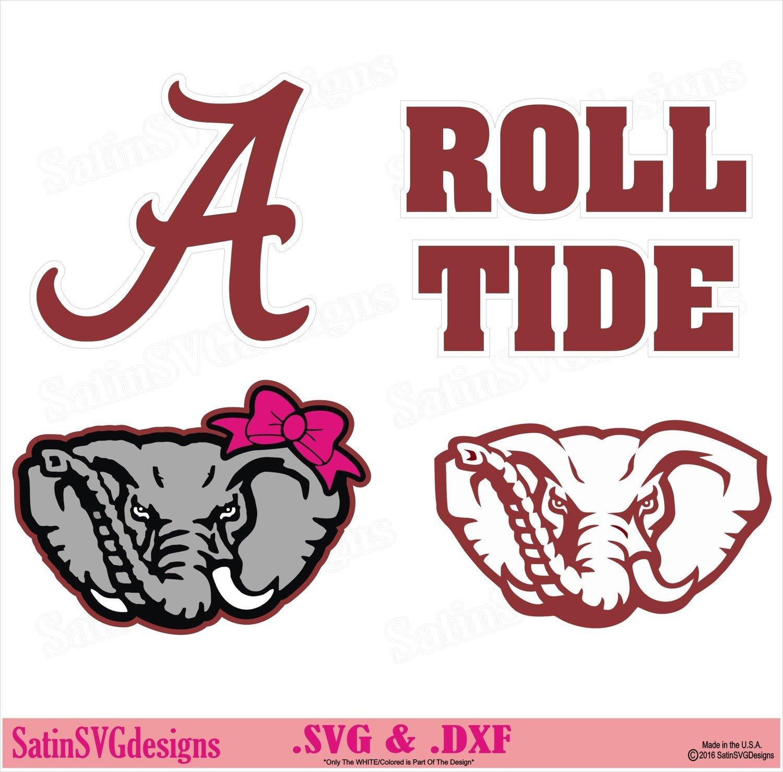 Alabama Roll Tide Set Design SVG Files, Cricut, Silhouette Studio, Digital Cut Files
