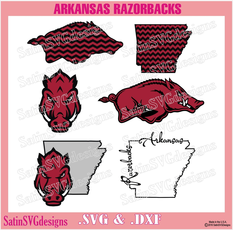 Arkansas Razorbacks Design SVG Files, Cricut, Silhouette Studio, Digital Cut Files