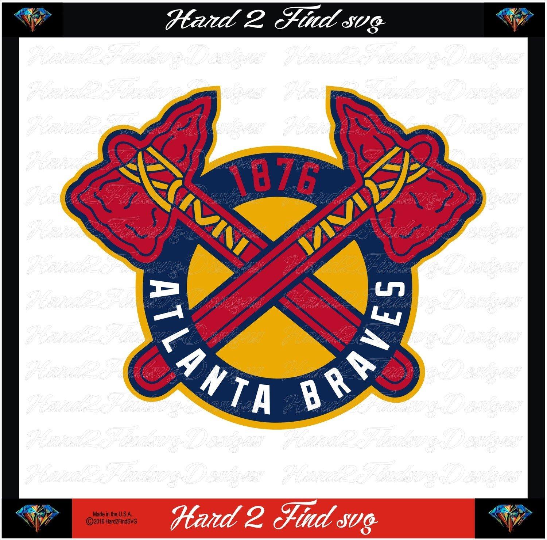 Atlanta Braves Baseball Logo 1876 MLB Design SVG Files, Cricut, Silhouette Studio, Digital Cut Files