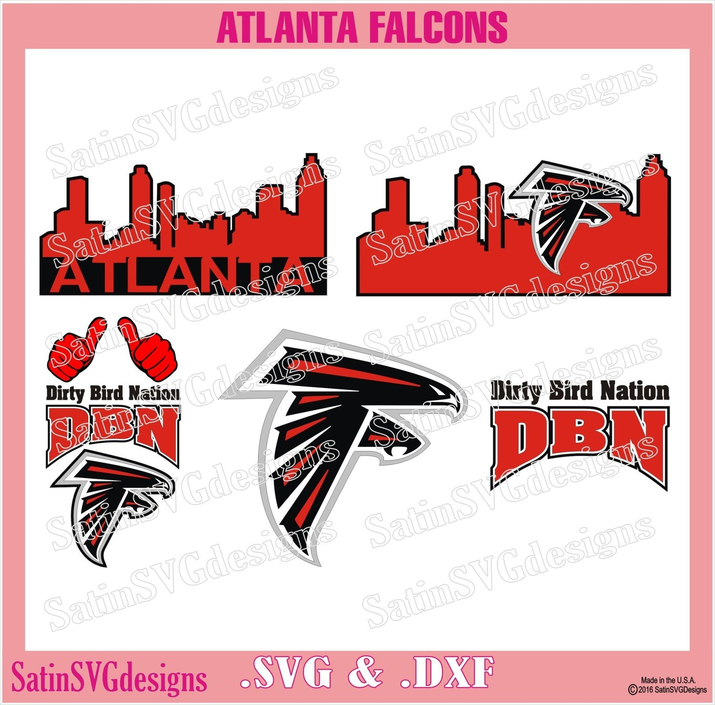 Atlanta Falcons City Design SVG Files, Cricut, Silhouette Studio, Digital Cut Files