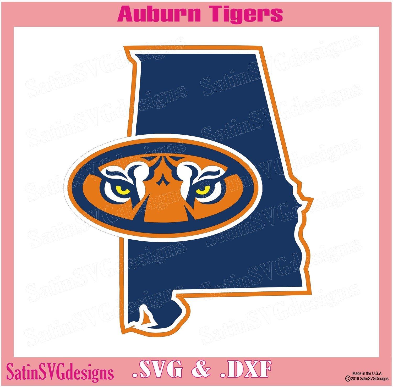 Auburn Tigers State Map Design SVG Files, Cricut, Silhouette Studio, Digital Cut Files