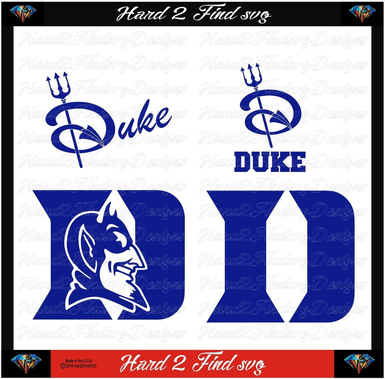 Duke Blue Devils College Design SVG Files, Cricut, Silhouette Studio, Digital Cut Files