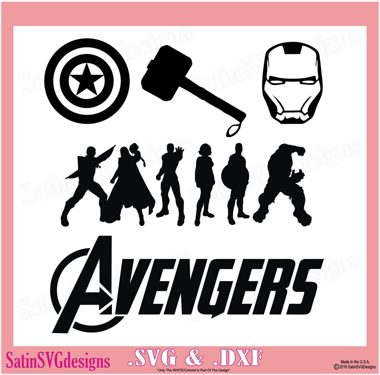 Avengers Hero Set Design SVG Files, Cricut, Silhouette Studio, Digital Cut Files