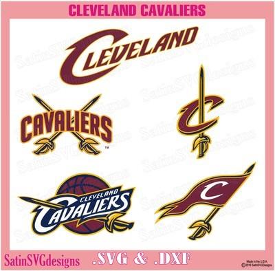 Cleveland Cavaliers Design Set SVG Files, NBA Basketball - Cricut, Silhouette Studio, Digital Cut Files