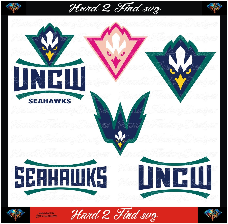 NC-Wilmington Seahawks Set Design SVG Files, Cricut, Silhouette Studio, Digital Cut Files