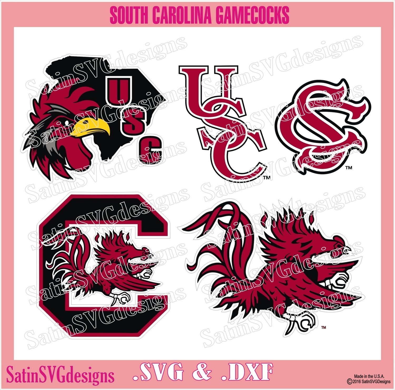 South Carolina Gamecocks Set Design SVG Files, Cricut, Silhouette Studio, Digital Cut Files