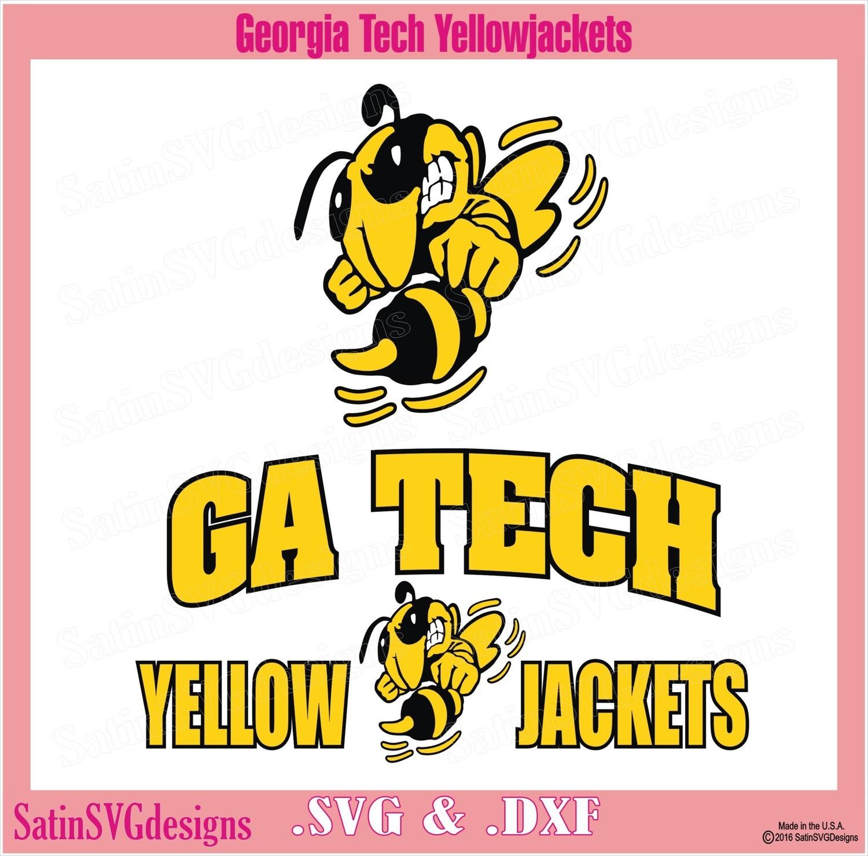 Georgia Tech Mad-Yellowjacket Design SVG Files, Cricut, Silhouette Studio, Digital Cut Files
