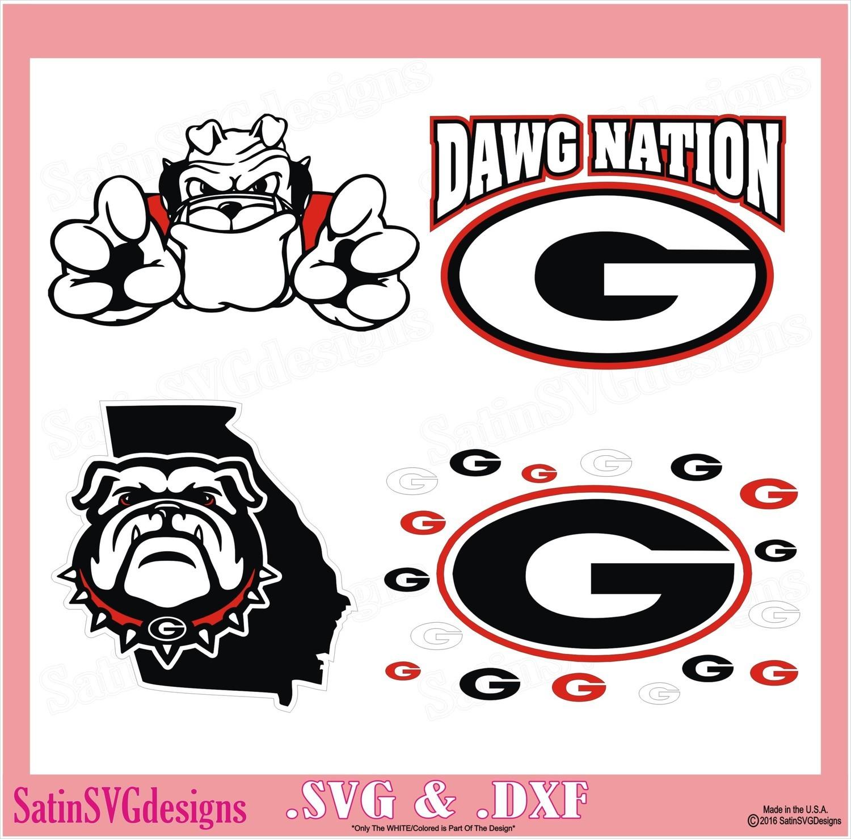 Georgia Bulldogs UGA State Map Set Design SVG Files, Cricut, Silhouette Studio, Digital Cut Files