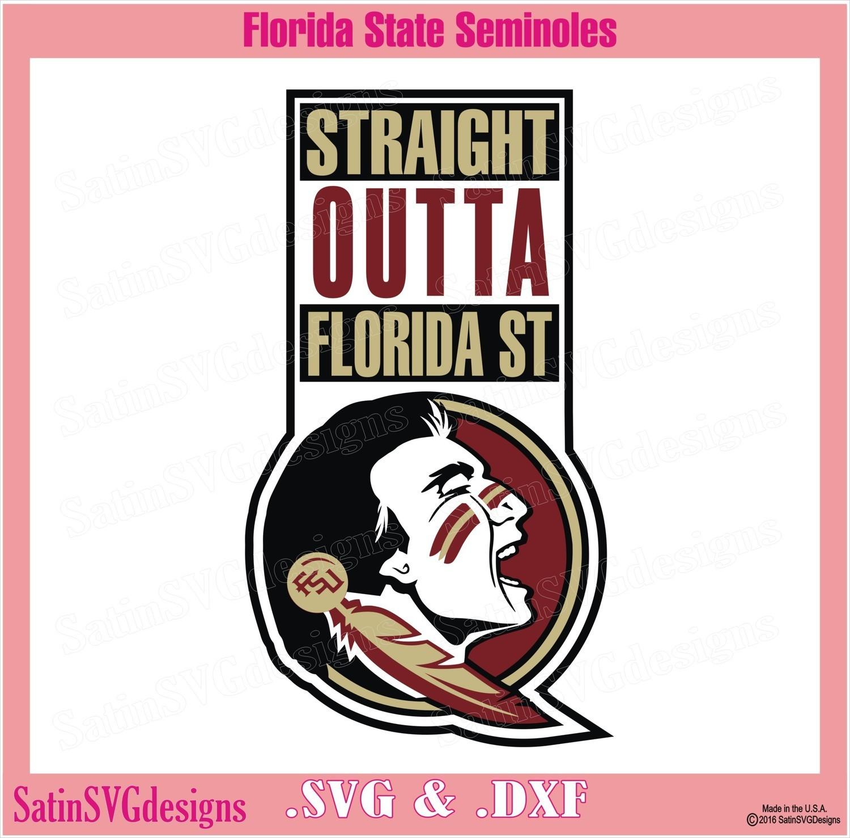 Florida State Seminoles Str8 Outta Design SVG Files, Cricut, Silhouette Studio, Digital Cut Files