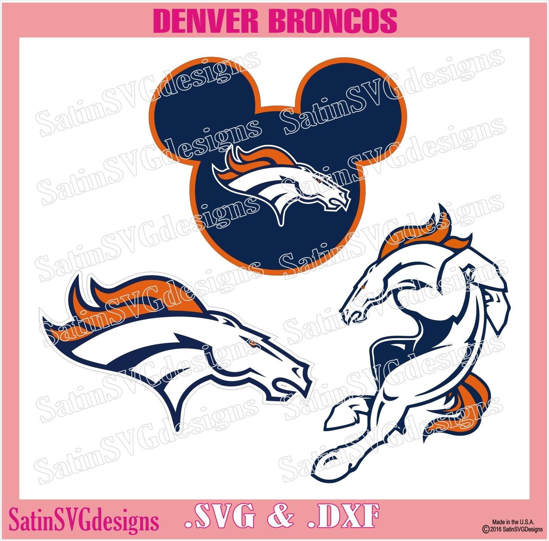Denver Broncos Logo Set Design SVG Files, Cricut, Silhouette Studio, Digital Cut Files