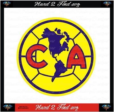 CA Club America Soccer Design SVG Files, Cricut, Silhouette Studio, Digital Cut Files