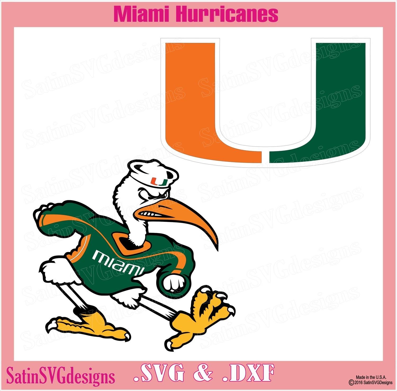Miami Hurricanes The U Design SVG Files, Cricut, Silhouette Studio, Digital Cut Files