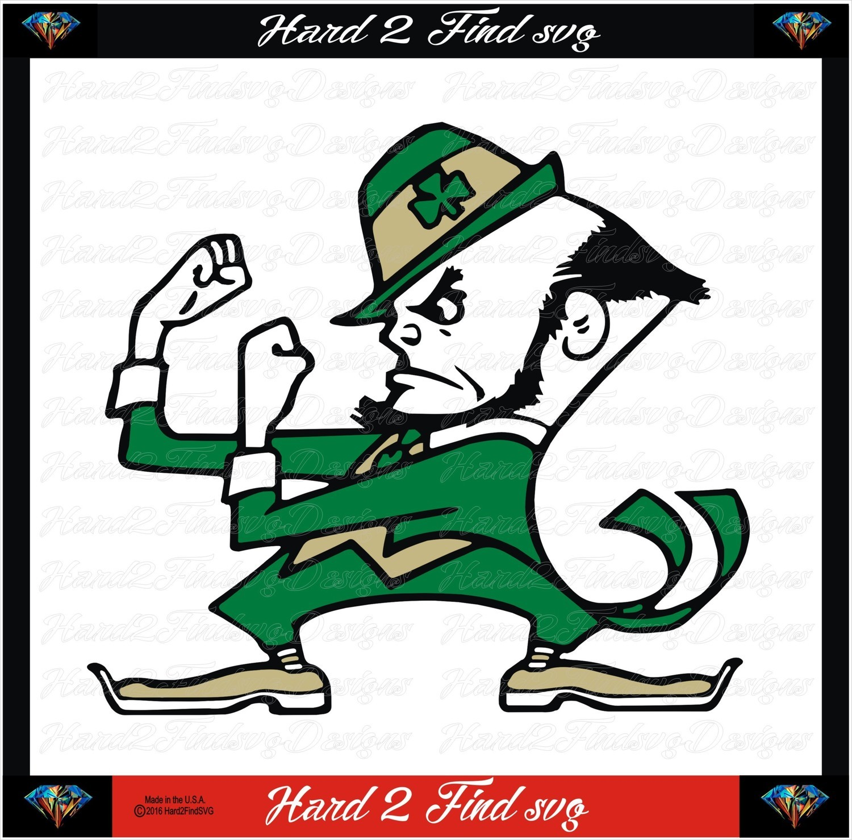 Notre Dame Fighting Irishman Design SVG Files, Cricut, Silhouette Studio, Digital Cut Files