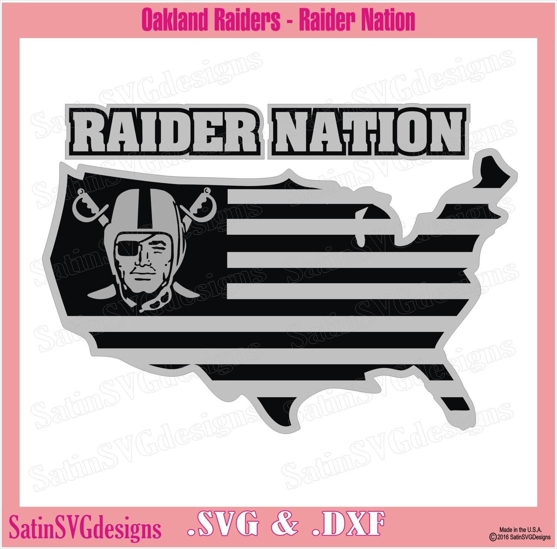 Las Vegas Raiders Nation Map Design SVG Files, Cricut, Silhouette Studio, Digital Cut Files