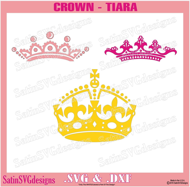Princess Crowns Tiara Custom Design SVG Files, Cricut, Silhouette Studio, Digital Cut Files
