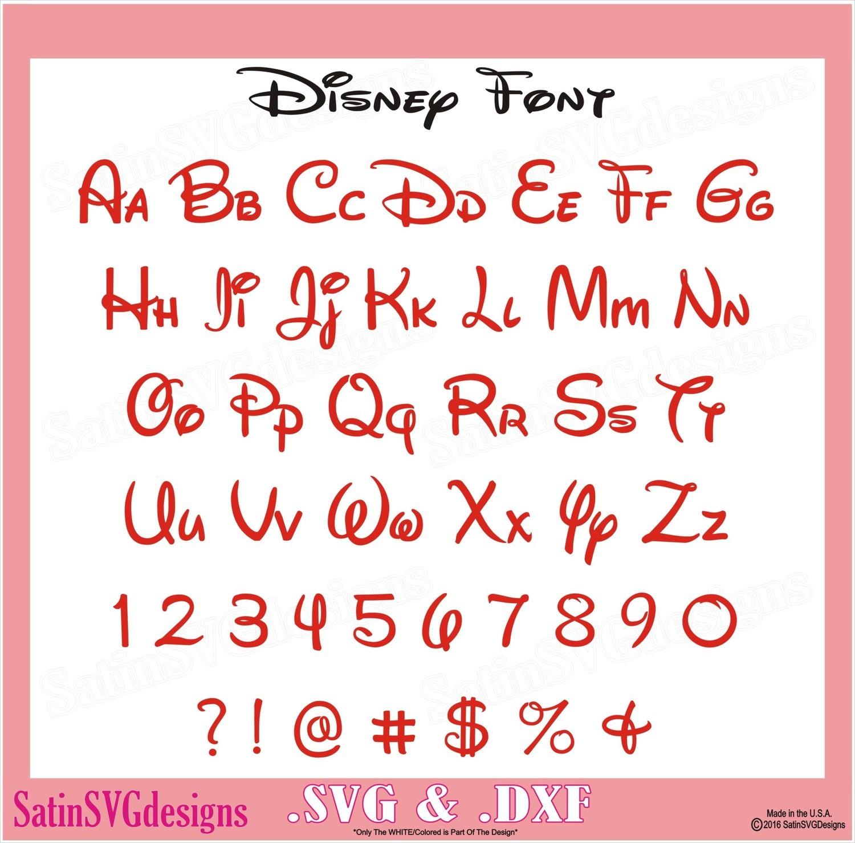 Disney Font Waltography Design SVG Files, Cricut, Silhouette Studio, Digital Cut Files