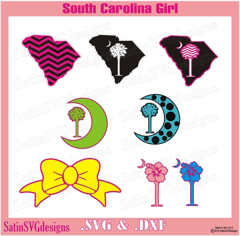 South Carolina Tree Set Design SVG Files, Cricut, Silhouette Studio, Digital Cut Files