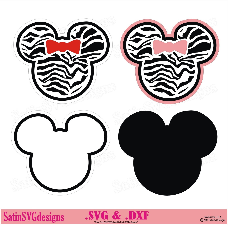 Minnie Mouse Ears Mickey Disney Design SVG Files, Cricut, Silhouette Studio, Digital Cut Files