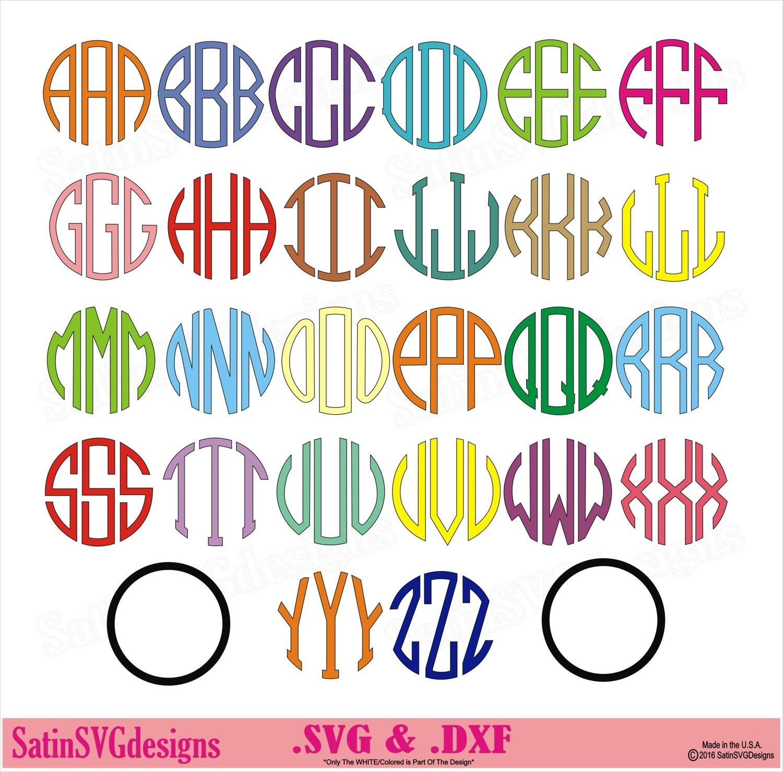 Circle Fonts Custom Design SVG Files, Cricut, Silhouette Studio, Digital Cut Files