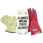 "GK011R Glove Kit, Class 0 Includes Red 11"" Gloves, Leather Protectors and Glove Bag"