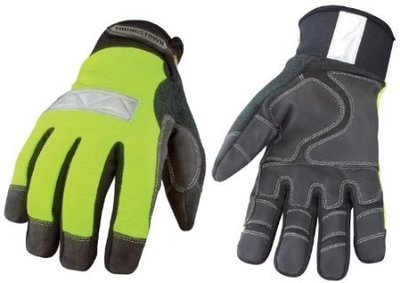 Safety Lime Waterproof Winter Gloves