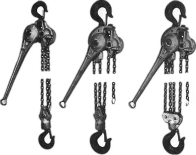 Ratchet Chain Hoists, Link Chain Style