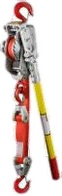Lug-All Medium Frame Web Strap Ratchet Winch Hoist, Standard Latching Hooks