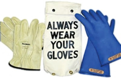 "GK011BL Glove Kit, Class 0  Includes Blue 11"" Gloves,  Leather Protectors and  Glove Bag"