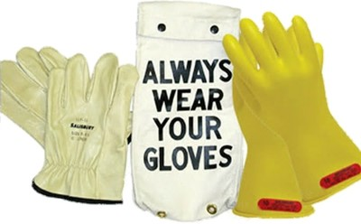 "GK011Y Glove Kit, Class 0 Includes  Yellow 11"" Gloves, Leather Protectors  and Glove Bag"