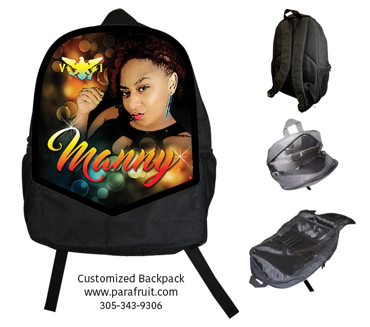 Super Star Face with Name Backpack