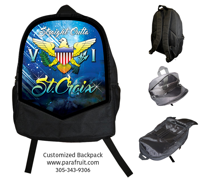 Outta ST Croix Backpack with Name