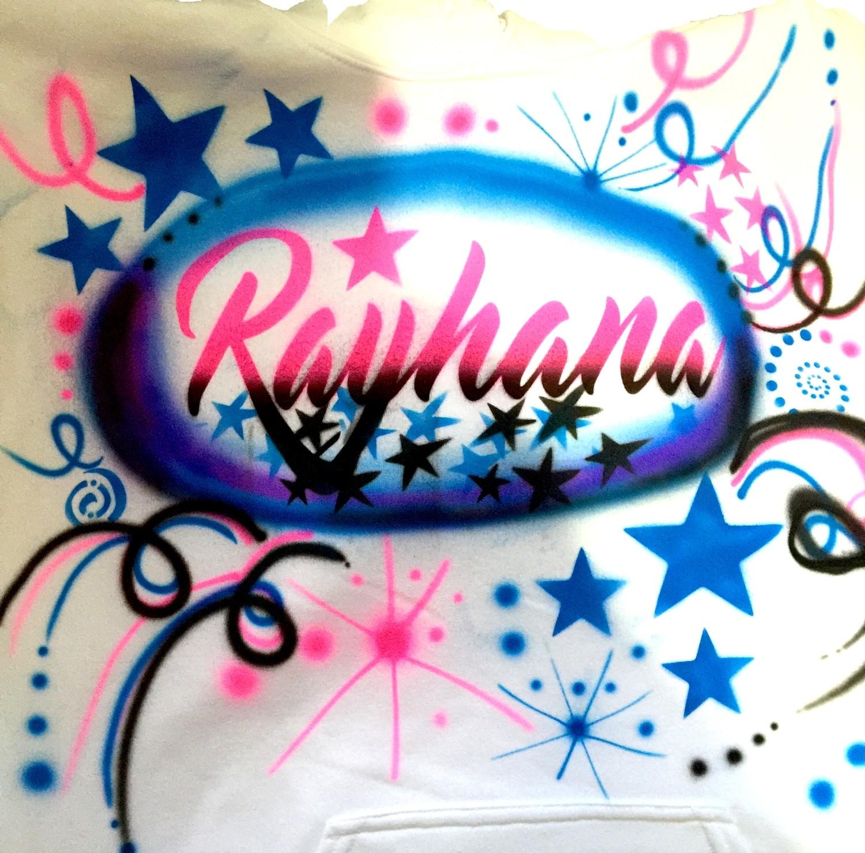 Rayhana Name Airbrush