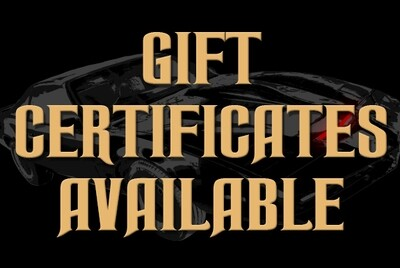 KITT STILL ROCKS - Gift Certificates