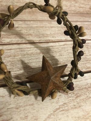 Tin Star Wreath