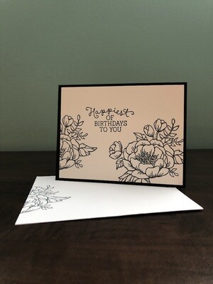 Colouring Cards - Flowers