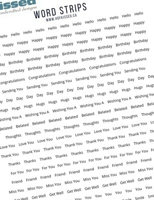 Word Strips