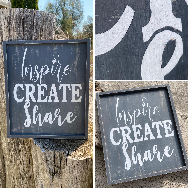 Framed Wood Sign, Custom